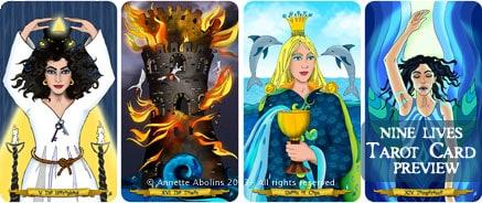 4 card reading - Nine Lives Tarot