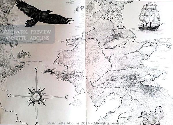 Nine Lives Map - Annette Abolins