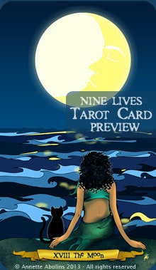 The Moon - Nine Lives Tarot by Annette Abolins