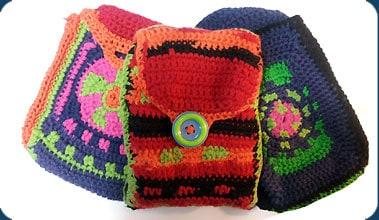 tarot bags crocheted