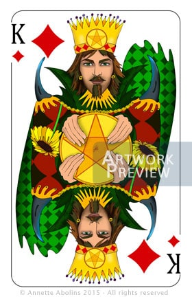 Illustrated playing card