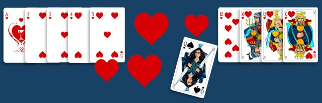 A game of Hearts and Queen of Spades
