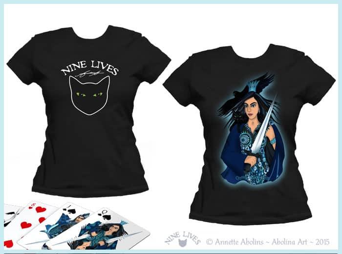 Nine Lives T-shirt designs