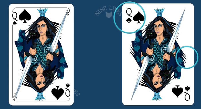 Comparing editions - Nine Lives Queen of Spades