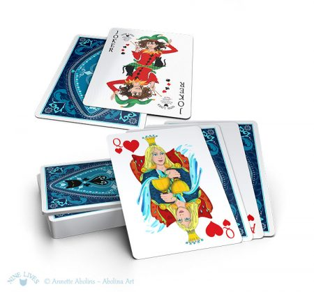 Card display from Nine Lives Playing Cards