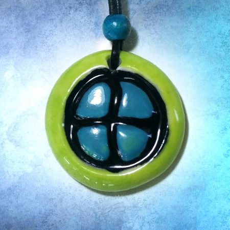 lime and turquoise design