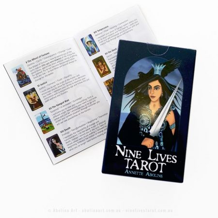 Tarot deck with booklet of card meanings by Annette Abolins