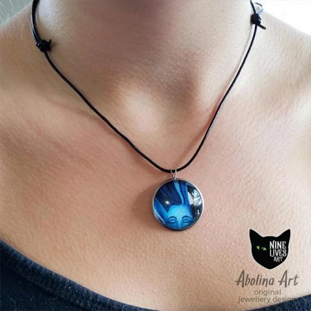 Model wearing Tranquillity pendant