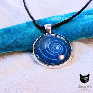 Nine Lives Blue Spiral pendant