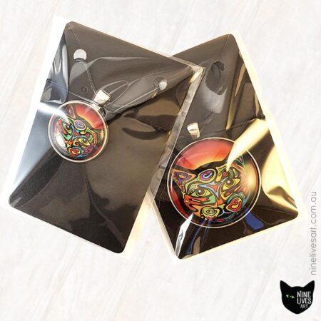 Jewellery packaging - Cat art pendants