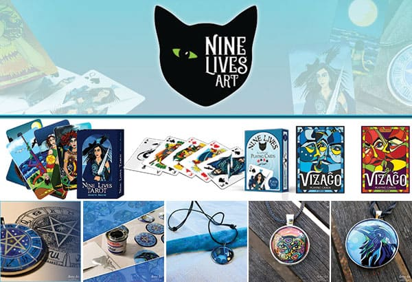 Nine Lives Art - site move and launch collage image
