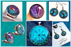Art pendant Tree of Life