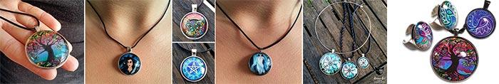 Art pendants and jewels by Abolina Art