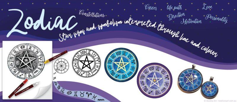 Zodiac pendants - from original artwork to finished pendant
