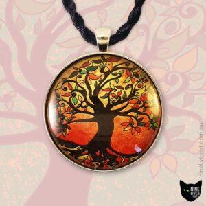 40mm Tree of Life pendant - Autumn