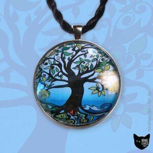Tree of Life - Dawn - pendant artwork by Abolina Art