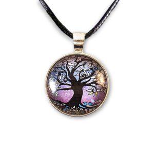 25mm tree of life pendant - Lilac Winter